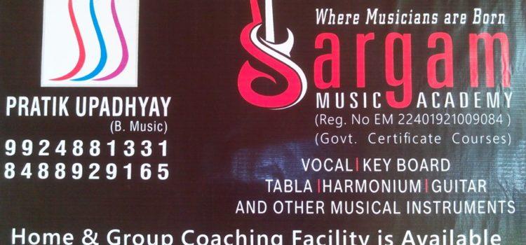 sargam academy written banner