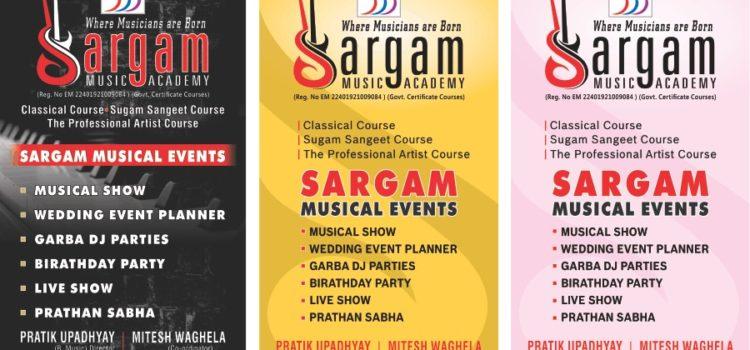 sargam academy event poster