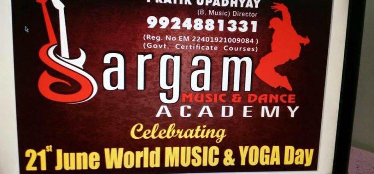 sargam academy poster for yoga day celebration