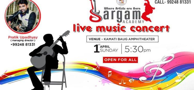 sargam academy live music concert poster