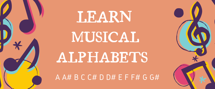 Learn music alphabets